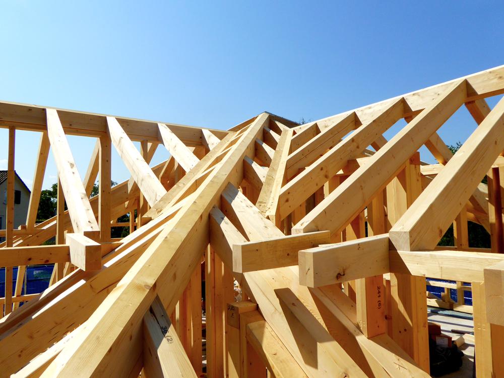 Detailansicht des Dachstuhls
