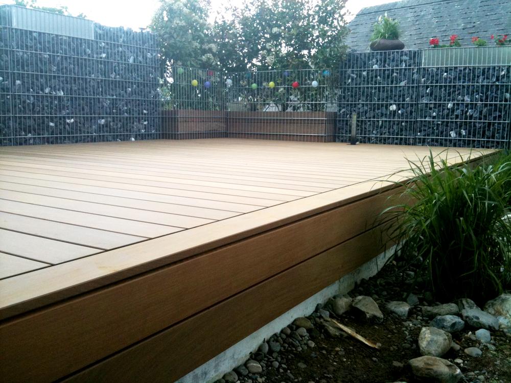 terrassendeck aus ip holz wermatswil wdholzbau. Black Bedroom Furniture Sets. Home Design Ideas