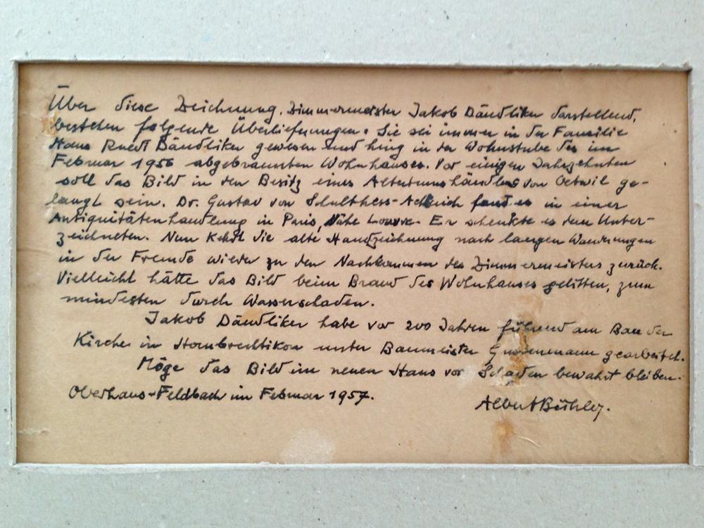 Inschrift des Zimmermann-Portraits