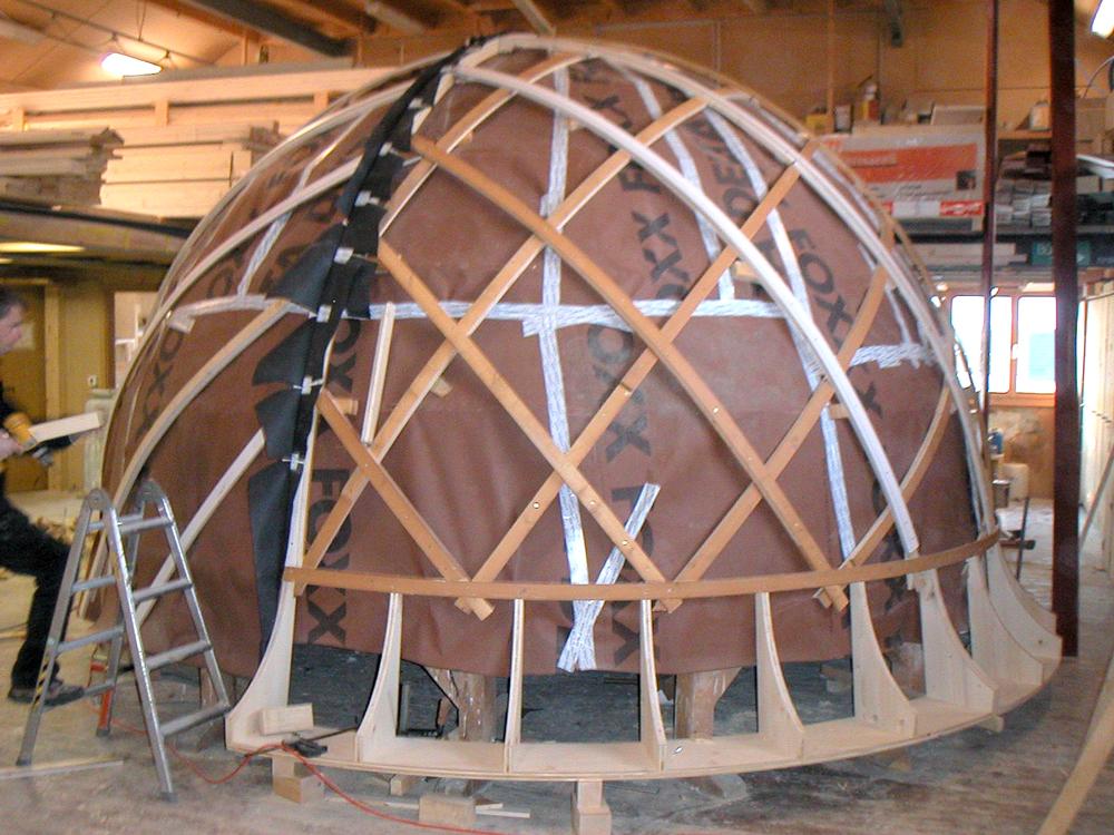 Unterkonstruktion für Holzschalung