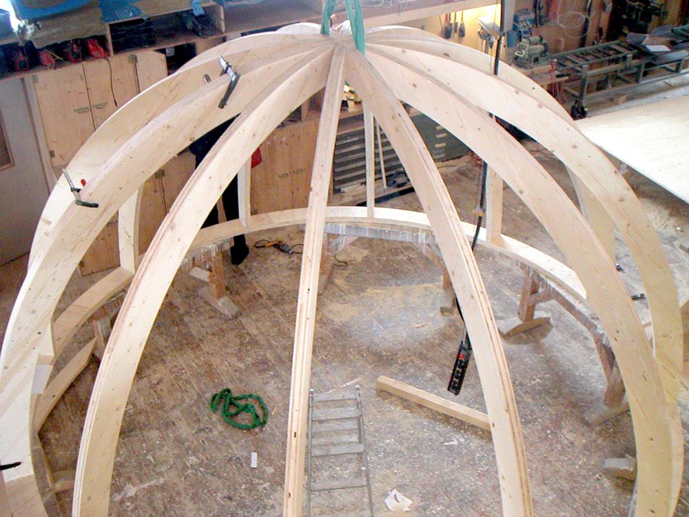 kuppel dachkonstruktion wollishofen wdholzbau zimmerei. Black Bedroom Furniture Sets. Home Design Ideas
