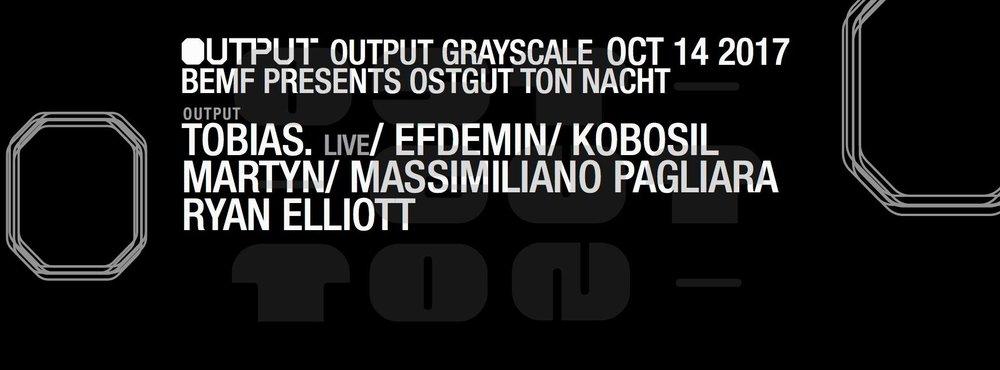 Toabis. BEMF Ostgut Ton Nacht Output Robbie Lumpkin Promotions