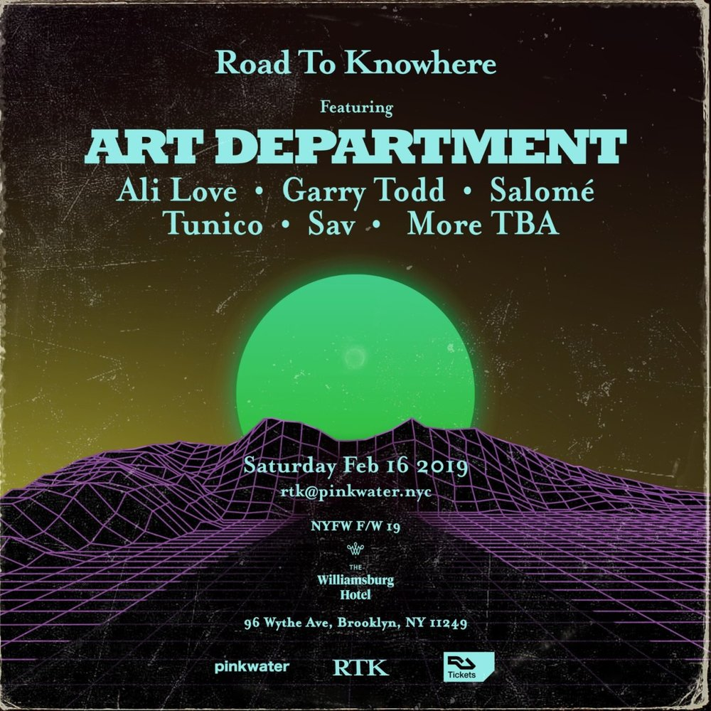 art department road to knowhere robbie lumpkin promotions