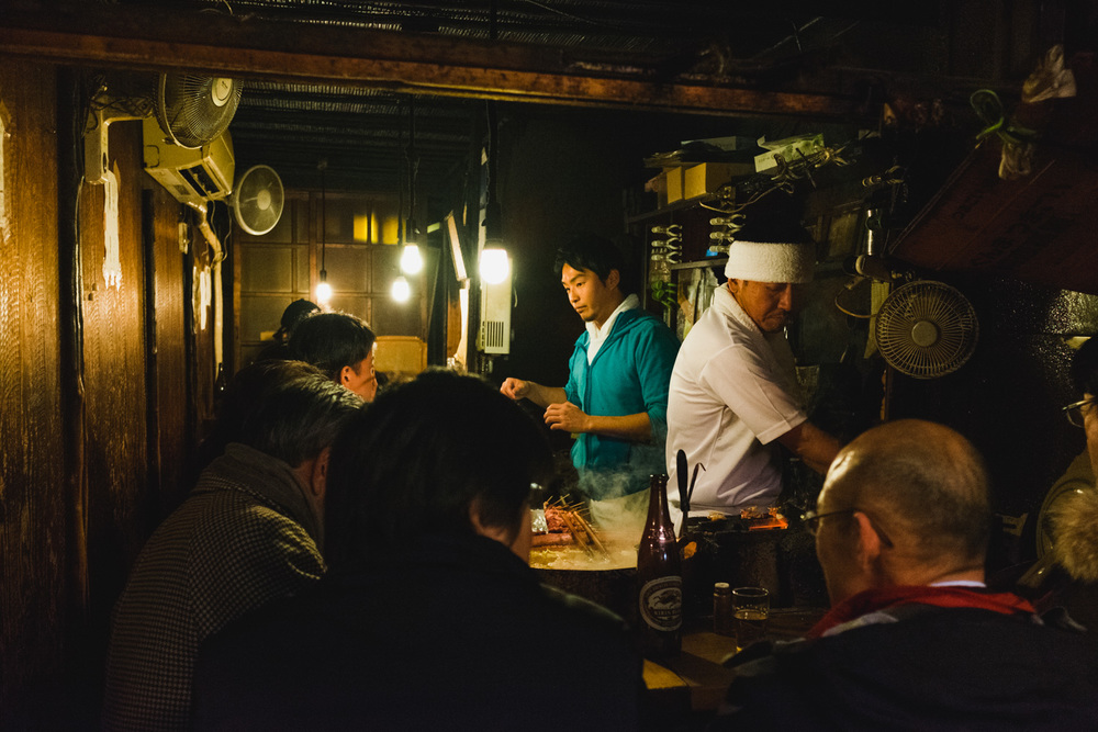 Busy cooking for customers