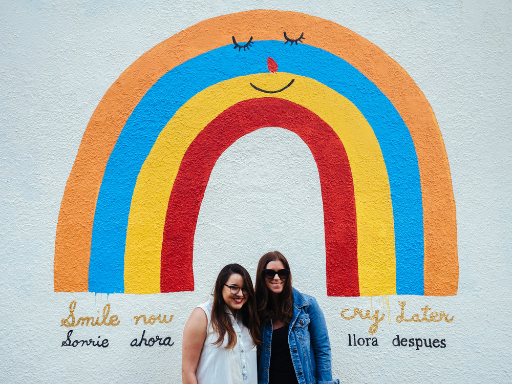 Smile now, cry later mural