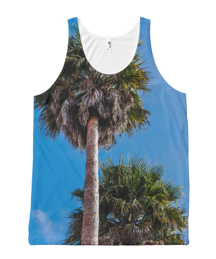 California Palm Trees All-Over Print Tank Top