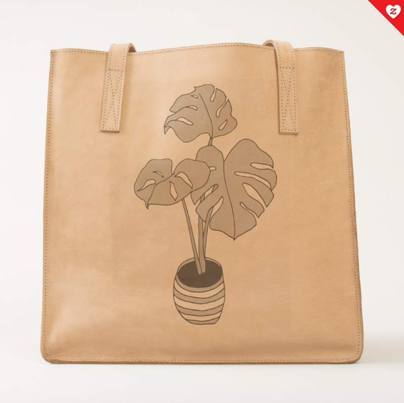 House Plant 01 Leather Tote