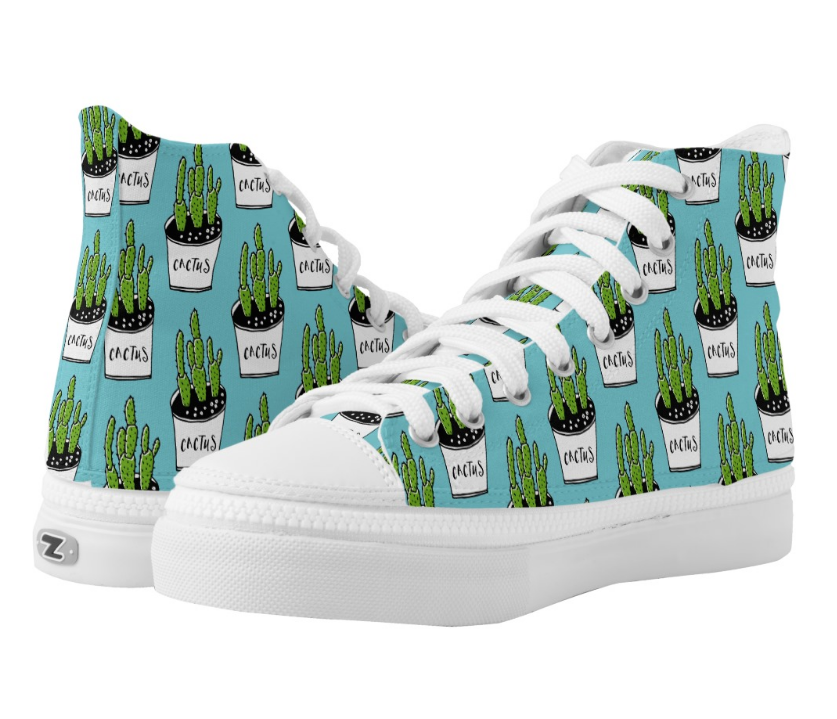 Cactus 01 printed High Top Shoes