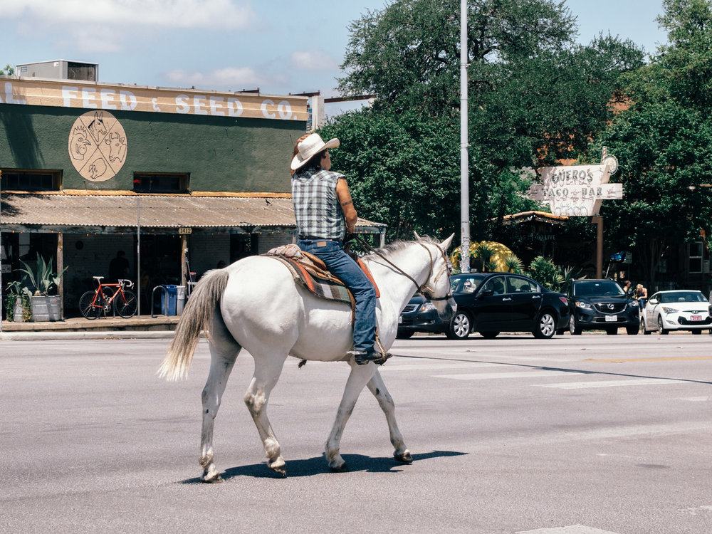 Cowboy on the street in Austin