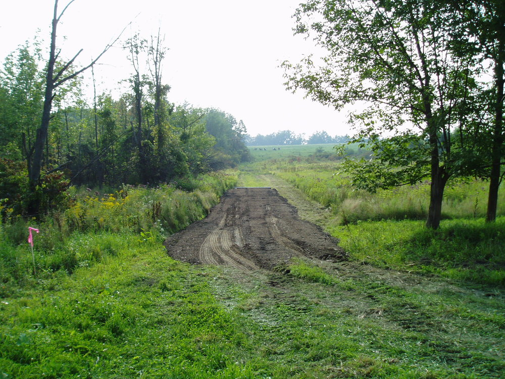 IN 2005 WE STARTED WORK ON THE STREAM CROSSINGS, AS A WAY TO TRAVERSE THE SWAMP WITHOUT MAKING A WATER-QUALITY MESS FOR OUR DOWNSTREAM NEIGHBORS.