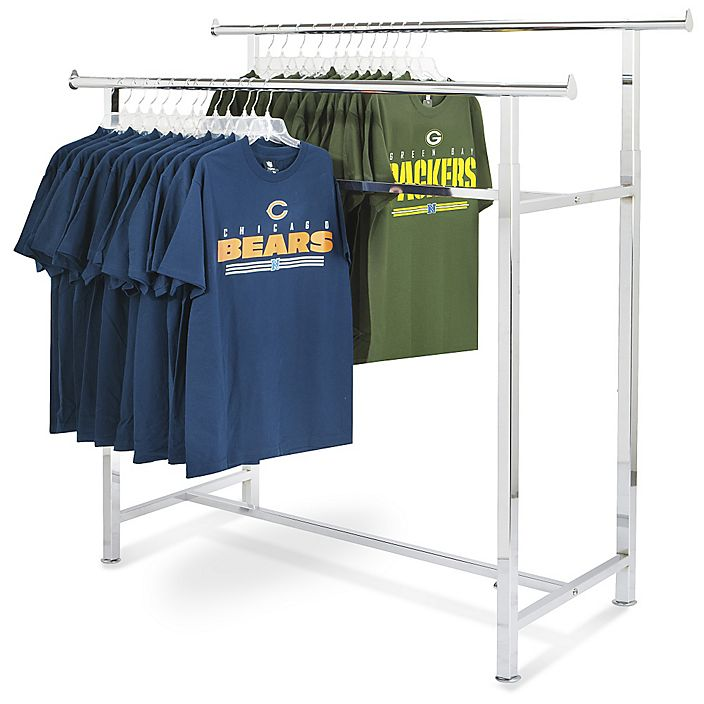 2-rail garment rack. never used.  all bolts included.