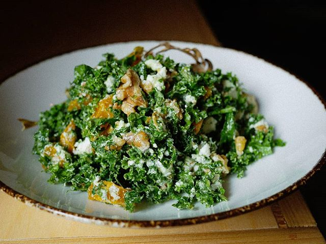Finish your Sunday on a healthier note, with our new kale salad. #kale #salad #healthyliving