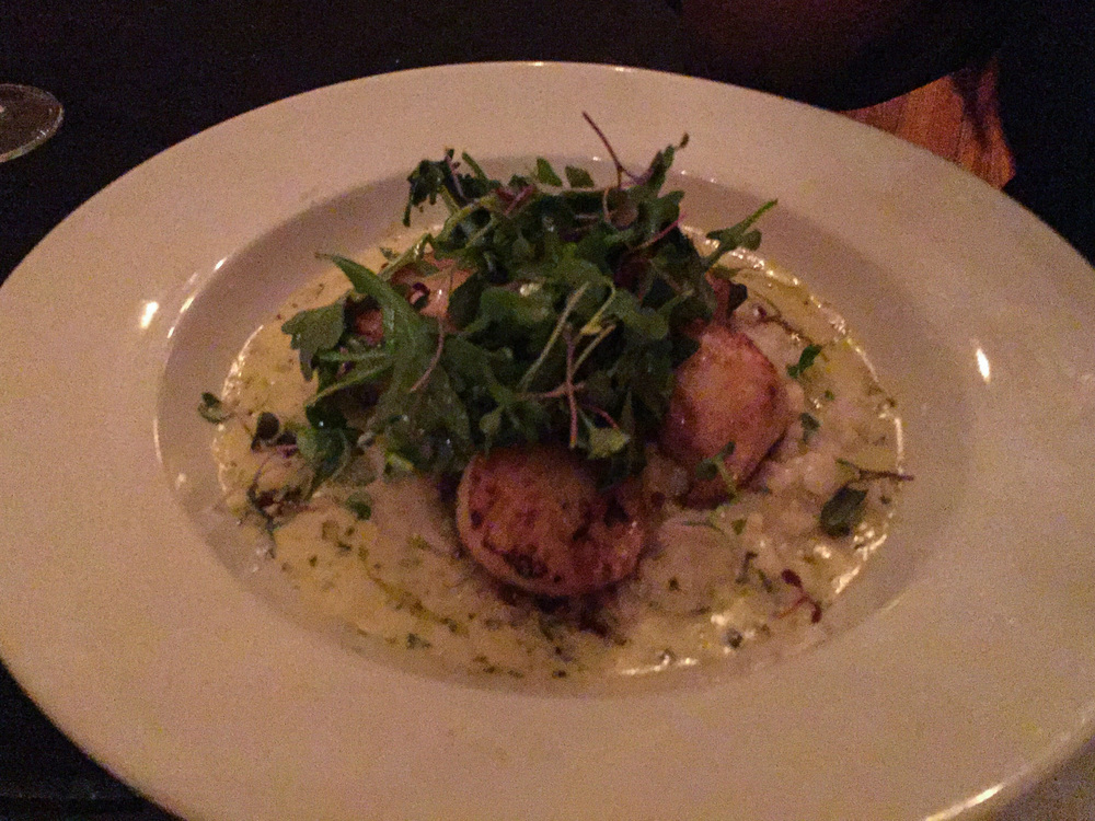 Scallops with citrus risotto