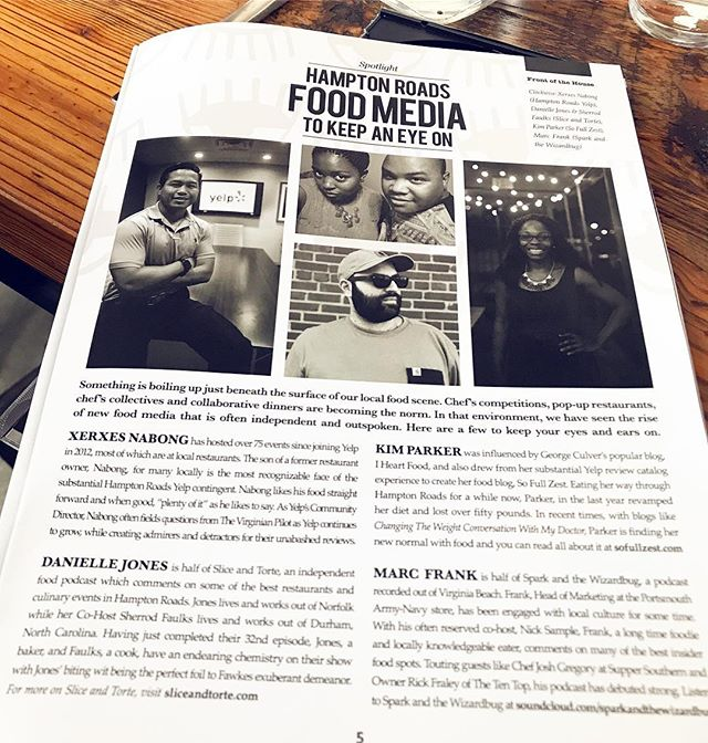 Thanks to @southern_grit_magazine for the mention in their latest edition! • • #foodie #foodmedia #local #magazine #va #virginia #hamptonroads