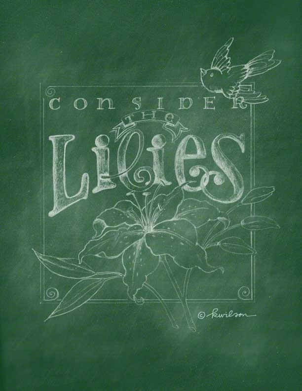 chalkboard-green-lilies