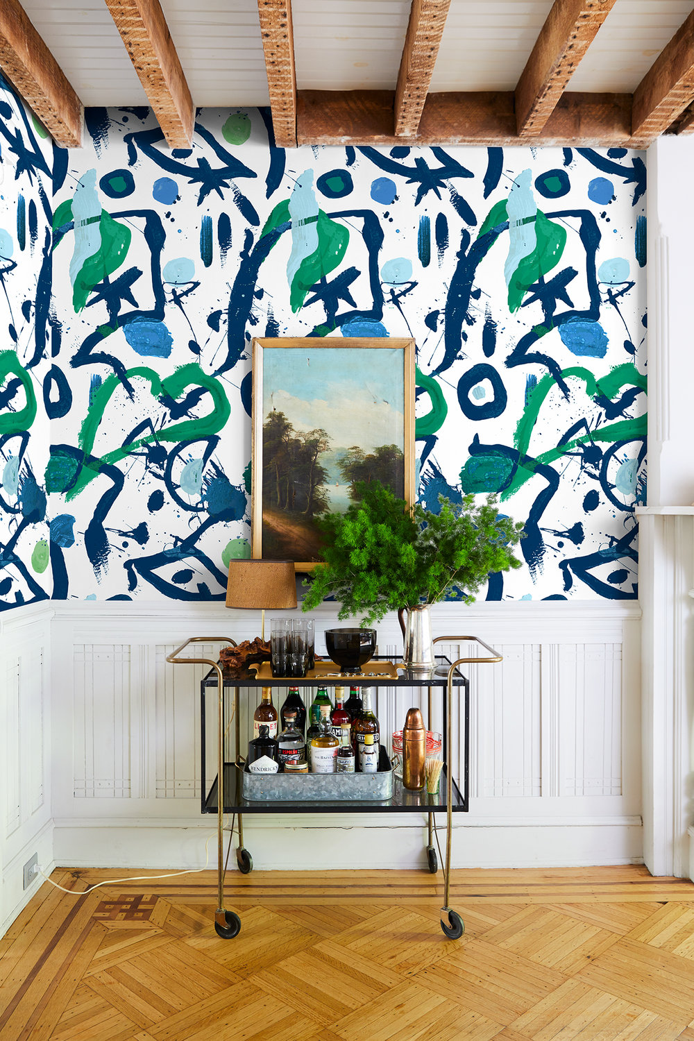 - Social media could almost have you convinced that there's only one way to decorate a home: that is, with hardly anything at all. But if spartan rooms and neutral hues leave you cold, a new line of maximalist wallpapers by Chris Benz and Wallshoppe may be the perfect antidote.Read more . . .