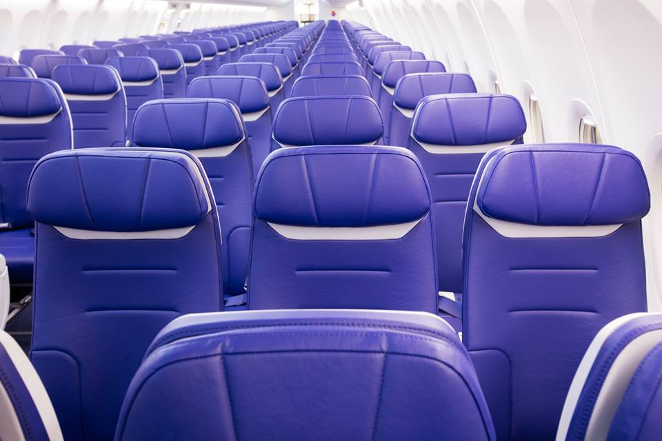 Southwest's new cabin interior, known as Heart. Photo Credit: Southwest Airlines
