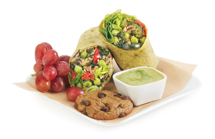 Delta's new Luvo Mediterranean Whole Grain Veggie Wrap