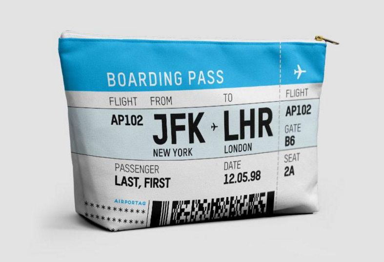 So Cool Custom Boarding Pass Travel Pouches