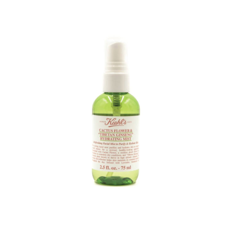 A fresh, loving spritz of hydrating facial mist - Have you ever looked in the mirror right after a flight? Say no more, right? This Cactus Flower & Tibetan Ginseng Hydrating Mist by Kiehl's is just the pick-me-up you need after hours on a dry airplane.