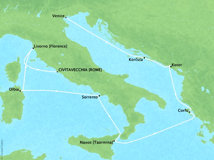 Mediterranean: Greek Isles - June 1, 2018 • 11 Days • Seven Seas VoyagerCivitavecchia, Italy to Venice, ItalyPerks/Promotions: $400 onboard spending money per suite, Virtuoso Voyages perk, Free Unlimited Valet Laundry for Suite bookings