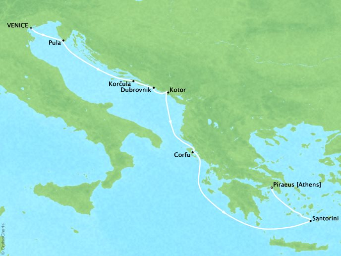 Dalmation Coast to Athens - 9 NightsJune 10, 2019Start: Venice, ItalyEnd: Piraeus, Greece$3,399/per person (before offer)