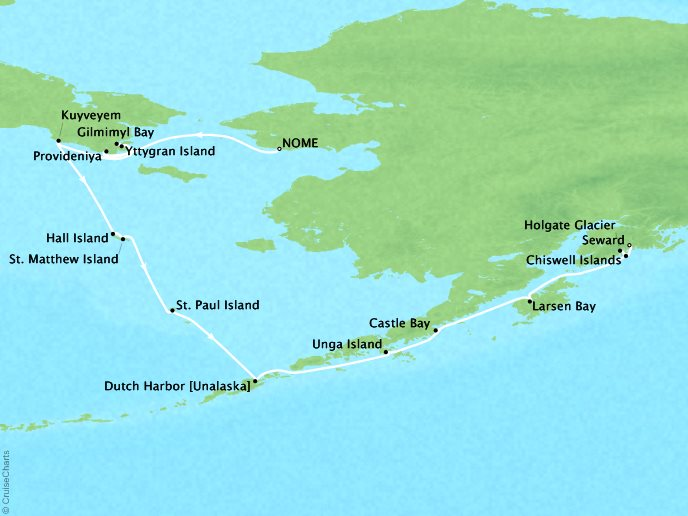 Alaska Expedition Cruise - Nome, Alaska to Seward, Alaska12 Nights, August 13, 2018Aboard Silver ExplorerAsk about similar itineraries on alternate dates.Contact your personal travel advisor for our private pricing for new bookings.