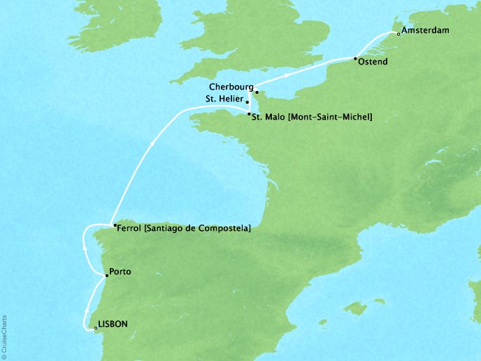 Tapestries, Towers & Tarte Normande: Europe's Atlantic Edge - 9 Days, May 6, 2019Aboard Star BreezeLisbon to AmsterdamWas $8,199 ppNow $2,899 pp