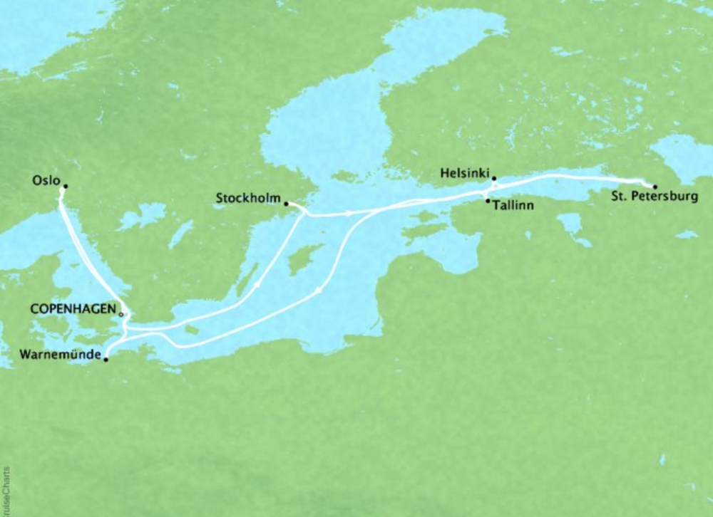 11 Day Scandanavia & RussiaRegal Princess®Roundtrip Copenhagen - Itineraries available between April 2019 - August 2019