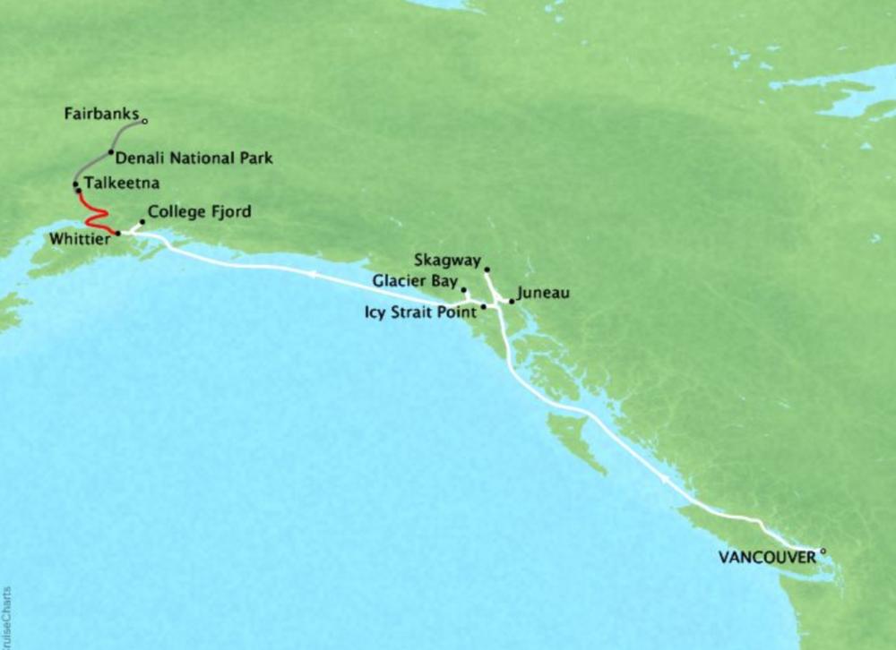 11 Night Alaska Cruisetour FA4Island Princess®Vancouver, B.C. to Fairbanks - Itineraries available between May 2019 - Sept 2019
