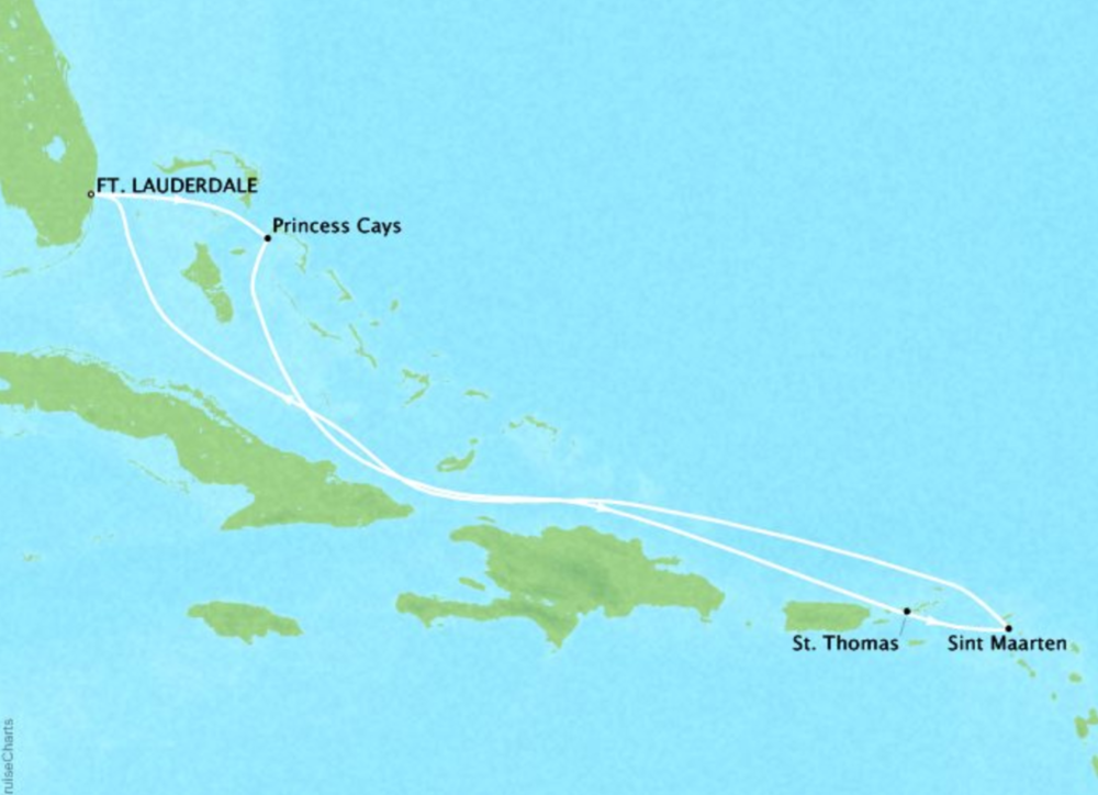 7 day Eastern CaribbeanCaribbean Princess®Roundtrip Ft. Lauderdale - Itineraries available between May 2019 - April 2020