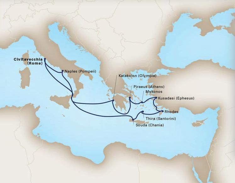 12 Day Ancient EmpiresKoningsdam®Roundtrip Civitavecchia (Rome)July 7, 2019 -