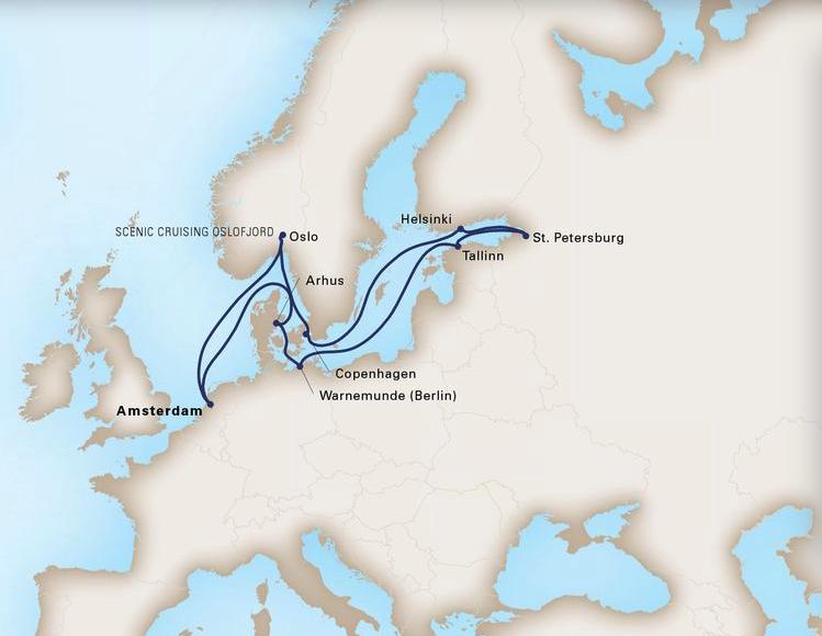 14 Day Baltic ExplorerRotterdam®Roundtrip AmsterdamSeptember 07, 2019 -