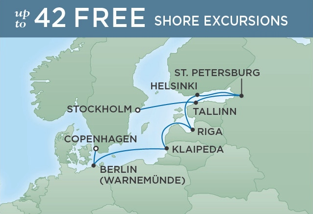 10 Night European Heritage - Stockholm to CopenhagenJuly 12, 2019Seven Seas Explorer®Exclusive amenity: $400 spa or onboard spending money per Suite