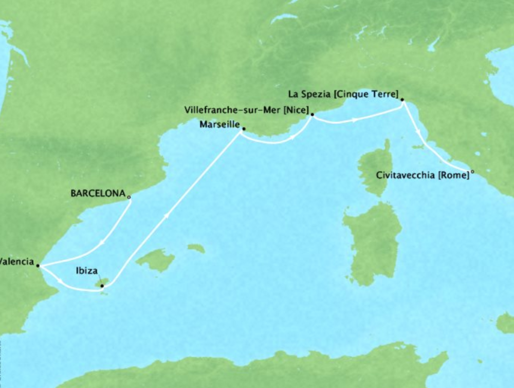 Spain, France & Italy - 8 DaysMultiple datesBarcelona, Spain to Civitavecchia, ItalyVirtuoso Voyages benefit