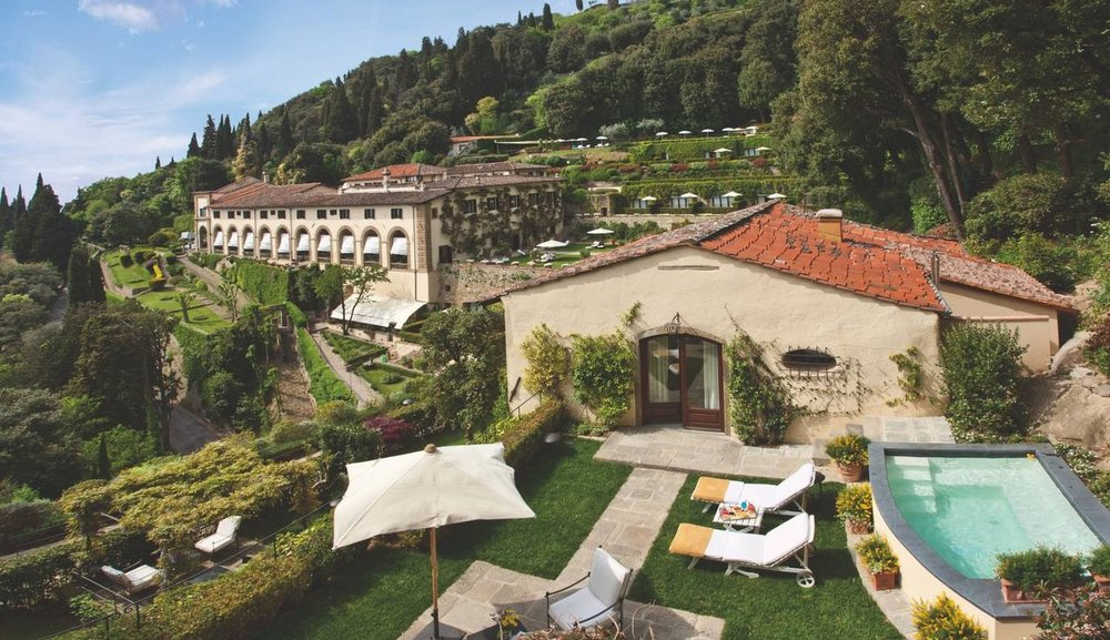 Belmond Villa San Michele - Florence, ItalyWith a facade designed by Michelangelo, Belmond Villa San Michele is one of the world's most romantic hotels. Surrounded by a wooded park and gardens, its hilltop location affords dramatic views of the city, only 15 minutes away by courtesy shuttle. Swim in the gorgeous pool, the highest in Florence, or take a cooking class at the acclaimed Cookery School. Most guestrooms boast stunning views and a private terrace or gardens.