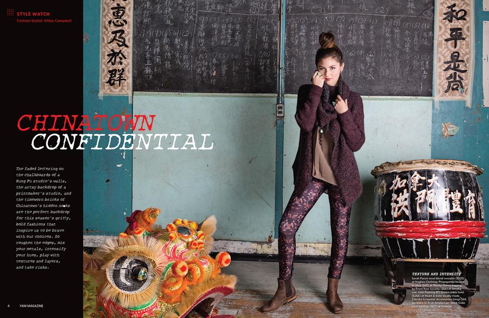 YAM, Chinatown Confidential   (credits)
