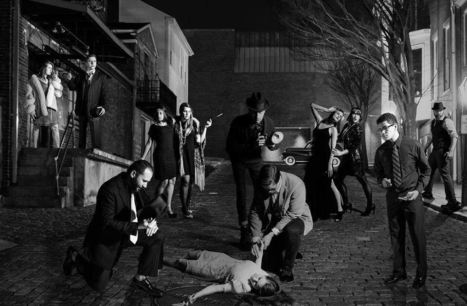 Nesop class of 2016, great Gatsby crime scene.