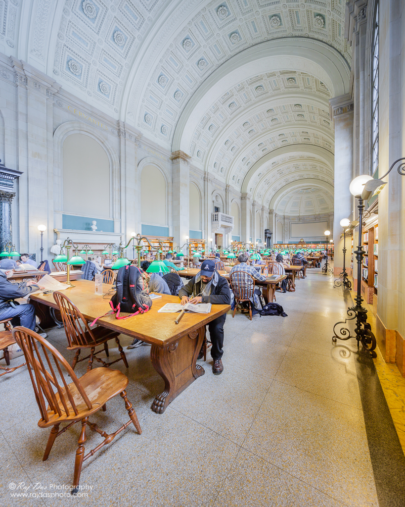Bates Hall, the great reading room of the Boston Public Library, was named after Joshua Bates, the library's first great benefactor.