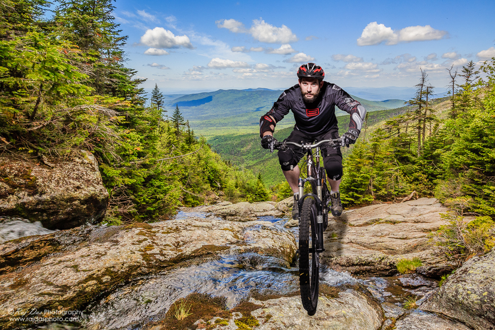 Composite image of Jason biking the White Mountains, NH