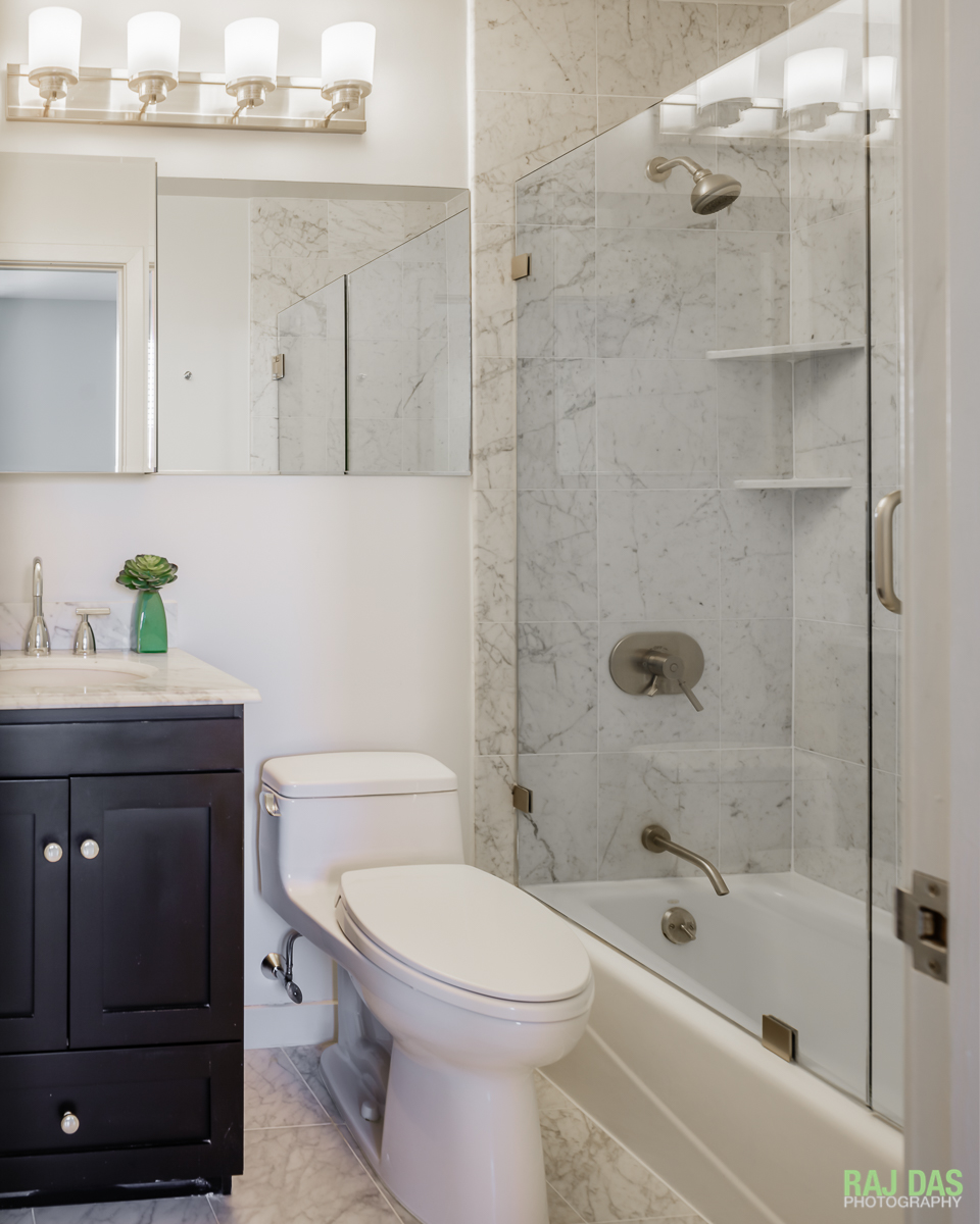 One of the bathrooms in the 755 Boylston Street property