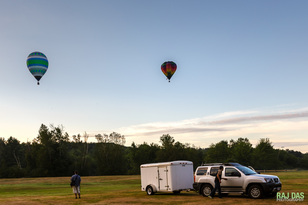 The retrieve crew will head out and wait for the radio from the pilot to get to where the balloon will land
