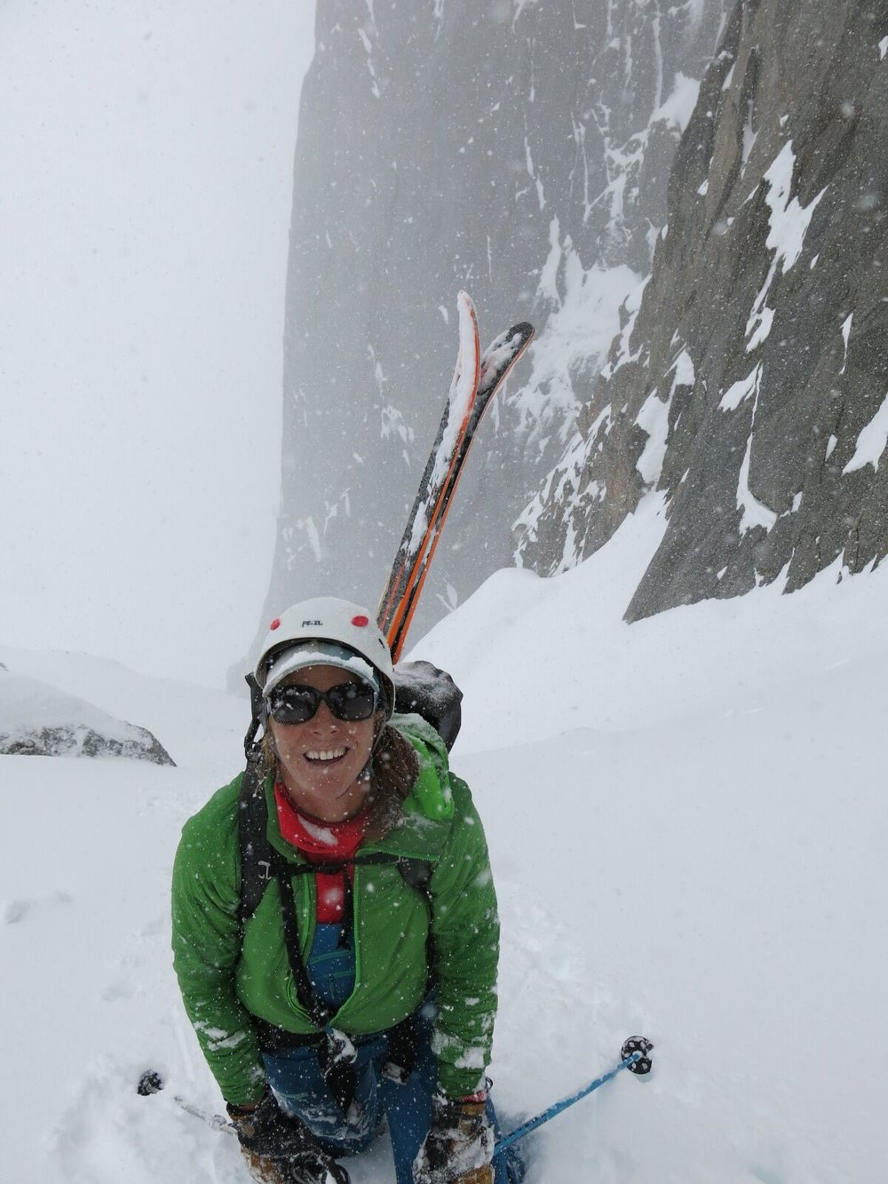 Ski mountaineering in the Wind River Range.