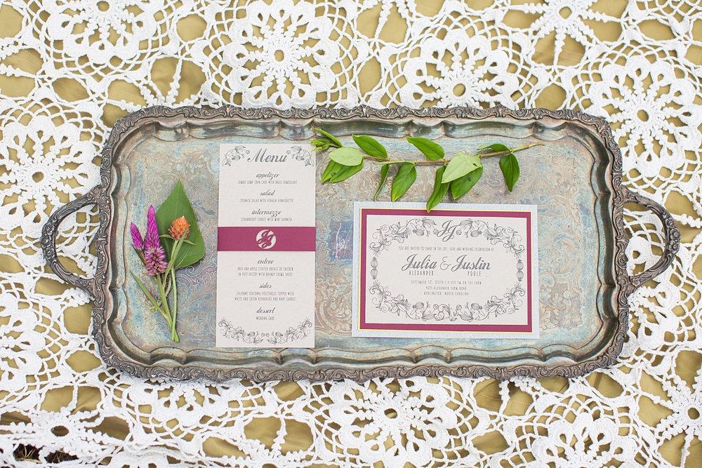 Bohemian rustic wedding invitation