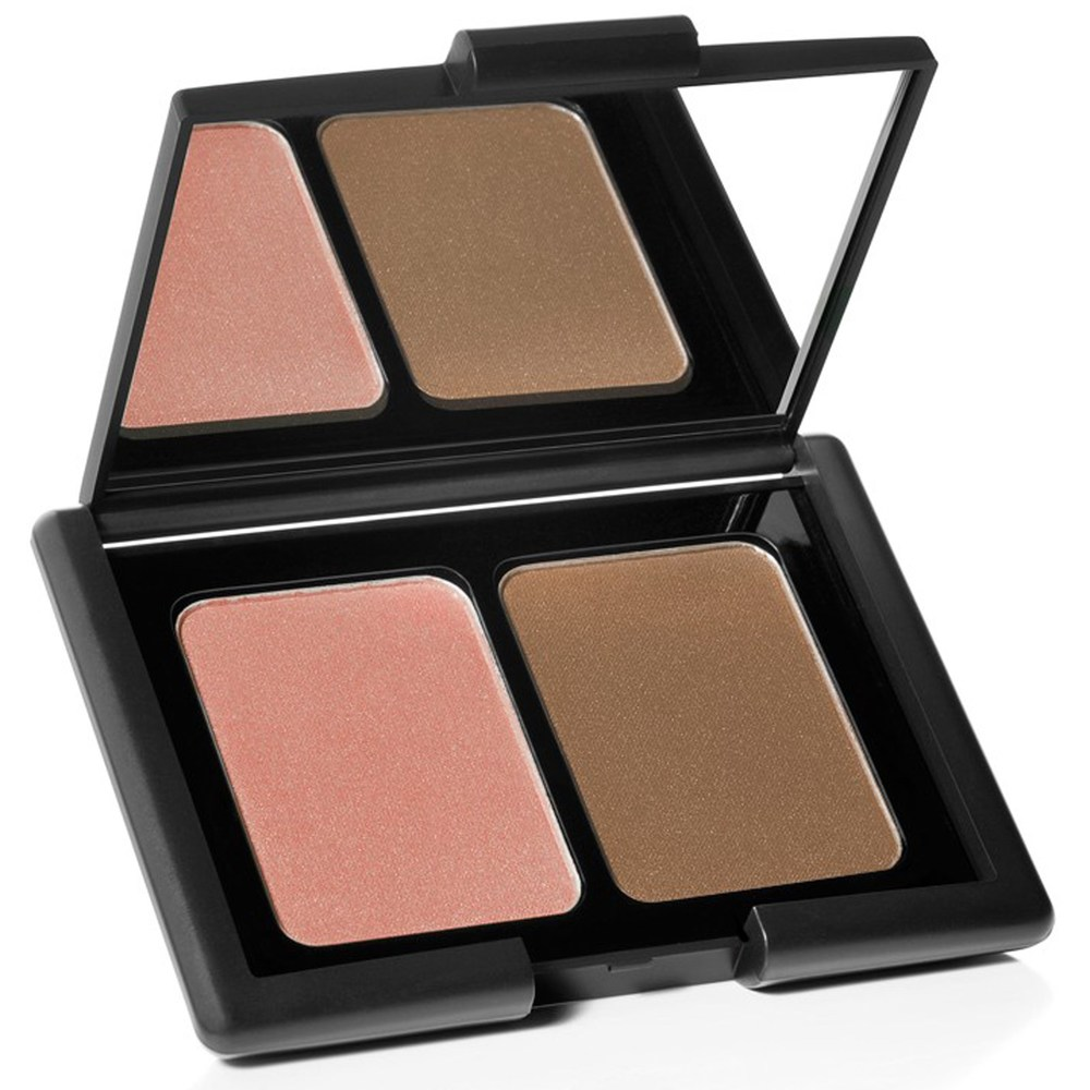 """elf Contouring Blush and Bronzing Powder   ($3) This blush isn't as a good as some of the higher end ones but the color is great! I use """"St. Lucia."""" Its supposedly a great dupe for NARS cult classic blush."""
