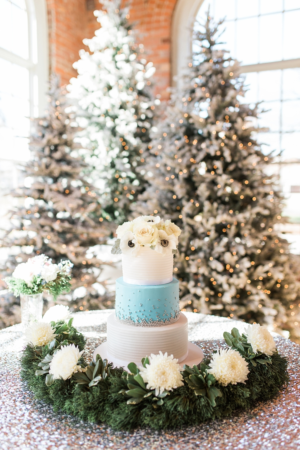 Blue and Silver Winter Wedding
