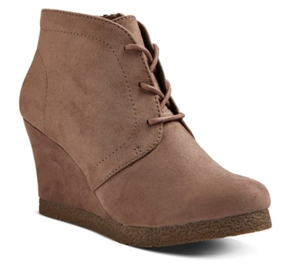 Merona Lace Up Booties   ($35)