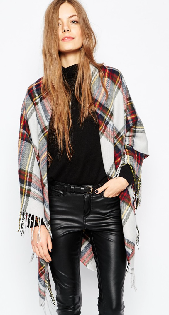 Oversized Plaid Blanket Scarf   (on sale for $18)