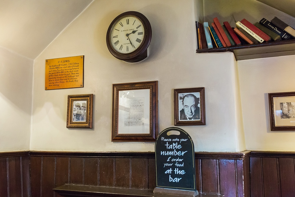 The Eagle and Child - where C.S. Lewis and Tolkien used to meet!