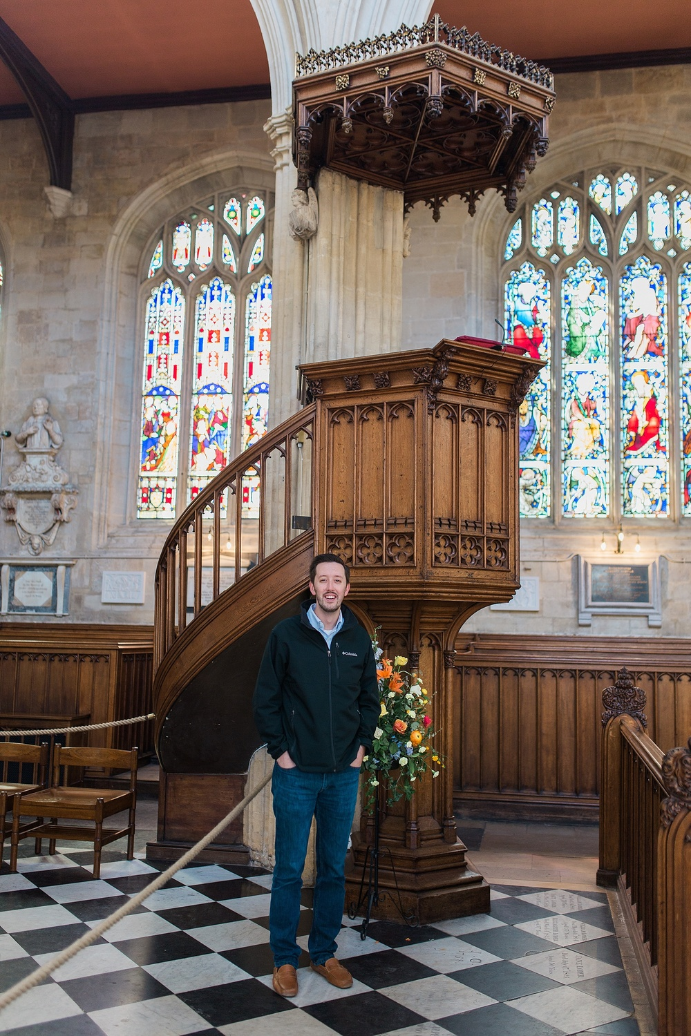 "The pulpit of the University Church (Where C.S. Lewis preached, ""The Weight of Glory"")"
